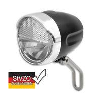 LED Fahrrad Scheinwerfer Retro Look incl. Batterien STVZO 40 LUX Nostalgie Class