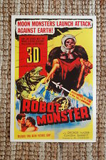 Robot Monster 3D Lobby Card Movie Poster Moon Monsters Launch Attack Again Earth
