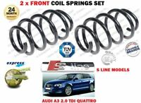 FOR AUDI A3 2.0 TDI QUATTRO 16V S LINE MODEL 2003->NEW 2X FRONT COIL SPRINGS SET