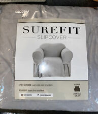 SureFit slipcove for Chair. Ducksolid Gray 32�x43�