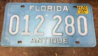 Florida  License Plate USA ANTIQUE