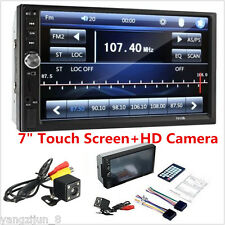 7'' HD FM Bluetooth Touch Screen Car Stereo Radio 2DIN FM/MP5/MP4/USB/AUX Camera