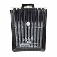 Copic Art Markers 9-Piece Multiliner Inking Pen Set B-2 Black Too From Japan New