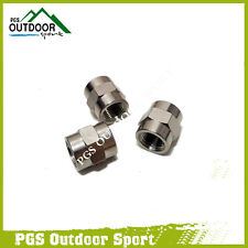 "A Lots of 3pcs Paintball PCP Air Hose Pipe Hex Nipple Fitting 1/8"" NPT Female"