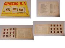 ALBUM CINEZOO N.1 COMPLETO ED. DIDATTICHE DI AUDIOVISIVI