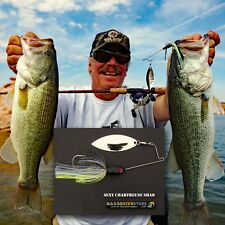 Bassdozer spinnerbaits SHORT ARM WILLOW 3/8 oz SEXY CHART SHAD spinner bait lure