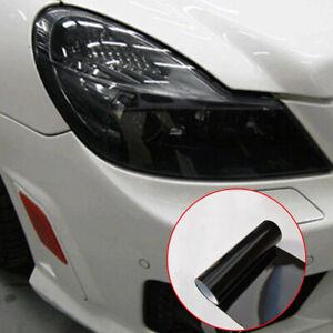 30 x 100cm Dark Smoke Black Tint Film Auto Car Headlights Tail lights Vinyl Wrap