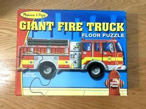 *NEW* GIANT FIRE TRUCK 4ft LONG FLOOR PUZZLE MELISSA & DOUG 24 JUMBO PIECES 3+