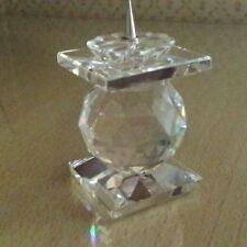 SWAROVSKI porta candele Candleholder Art 7600 NR 102 nuovo cristallo crystal