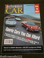 PERFORMANCE CAR - ROVER 416 GTi - JUNE 1990