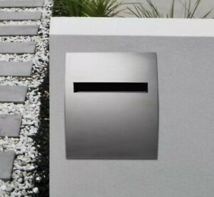 Sandleford Sparta Stainless Letterbox Telescopic Brick Insert A4 Rear Opening