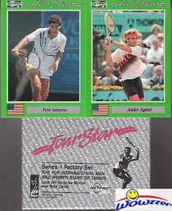 1991 NetPro Tennis Factory Sealed Box Set-Andre Agassi, Pete Sampras, McEnroe++