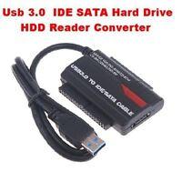 USB 3.0 to 2.5, 3.5, 5.25, IDE SATA Hard Drive HDD Reader Converter Docking