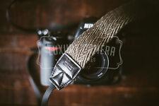MILITARY GREEN Canvas Camera Shoulder Neck Strap Vintage Belt for **DSLR ONLY**