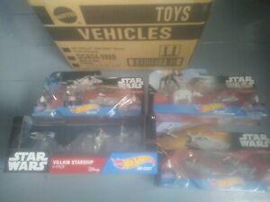 Star wars hot wheels die cast spaceships packs unopened Mattel 2015 +shippingbox