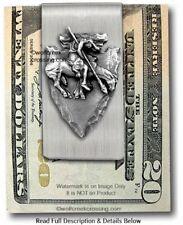 Western Art American West - Free Ship Arrowhead Large End Of Trail Money Clip -