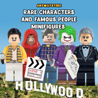 NEW RARE characters and FAMOUS people MINIFIGURES THEME fits block