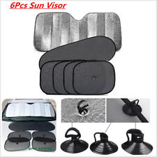 Front Rear Windshield Car Window Foldable Sun Shade Shield Cover UV Block x6pcs