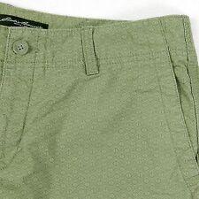 Cute! Eddie Bauer Women's 8 Sage Green Geometric Cotton Casual Short - Shorts