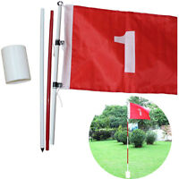 Backyard Practice Golf Hole Pole Cup Flag Stick 3 Section Putting Flagstick Hot