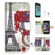 ( For iPhone 7 ) Wallet Case Cover P0639 Paris Eiffel