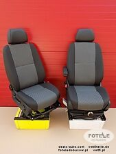 Seats set VW Crafter passenger driver captain seat TASAMO adjustments pumped