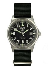 MWC G10LM Military Watch | 50m | Date Window | Screw Case Back | Black strap
