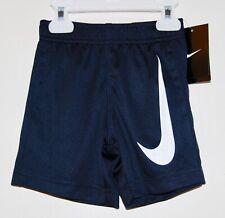 Nike Boys Toddler Athletic Shorts Big Swoosh Size 3t Blue White 762851