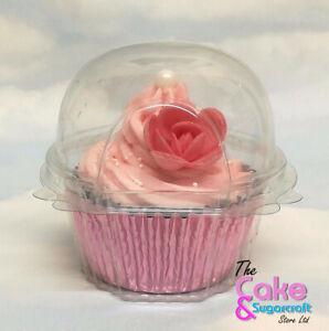 Cupcake Holder Clear Plastic Single Muffin Case Box Pods