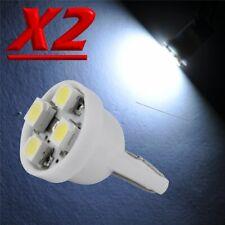 2 LED T10 4 SMD Bianco XENON Lampade Lampadine Luci Per Targa e Posizione W5W 12