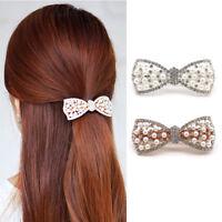 KE_ KF_ Women Rhinestone Bowknot Barrette Hairpin Hair Clip Accessory Headwear
