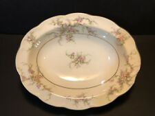 "Theodore Haviland New York ""Rosalinde"" 9 3/4"" Oval Vegetable Serving Bowl"