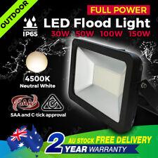 30W/50W/100W/150W LED Outdoor Flood Light White Security AU Plug Landscape Lamp