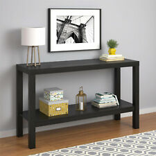 Parsons Console Table Sofa Black Oak Kitchen Entryway Office Storage Furniture