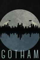 Gotham City Skyline Fantasy Travel Poster 12x18 inch