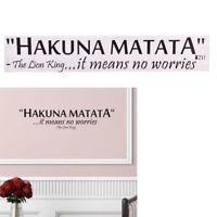 Hakuna Matata No Worry`quote wall decals decorative home decor removable`stic rv