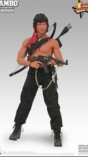 "Hot Toys 12"" RAMBO FIRST BLOOD II MMS06 John J. Rambo 1/6 Action Figure USA"