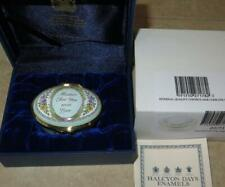 Halcyon Days Mother for You With Love Enamel Trinket Box w Photo Frame Interior