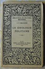 Malagodi Giovanni: LE IDEOLOGIE POLITICHE. 1928
