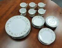 Vintage Abingdon Fine Porcelain China 6pc (30 total). Dinnerware Set