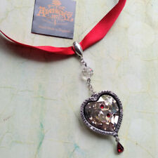 Alchemy Gothic Love After Death Bitten Crystal Heart Blood Drop Vampire Pendant