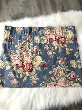 Eddie Bauer Home Curtain Valance Blue Floral Shabby Chic Country Approx 21 X 80