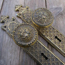 Ornate Pair of Antique Reproduction Door Knobs / Handles