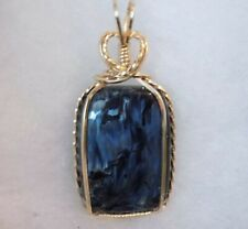Nambia ~ Chatoyant ~ BLUE PIETERSITE PENDANT ~ HandCrafted ~ 14kt GF