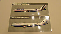 2 Vintage BOEING 747-400 original 1989 series large full body sticker decals 8X3