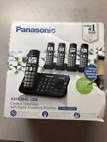 Panasonic KX-TG3645B Expandable Cordless Phone System w/ Answering Machine (27e)
