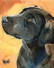 Labrador Retriever 11x14 signed art PRINT RJK painting Black Lab