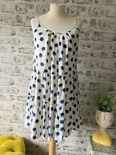 H&M Size 16 18 (M) Flattering Polka Dot Strappy Smock / Trapeze Dress
