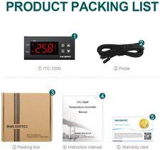 Inkbird Digital Temperature Controller Itc1000 110V Programmable Thermostat Heat