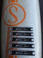 5 SCHWINN Stingray Tags Banana seat Badge emblem Fastback Krate bicycle tags